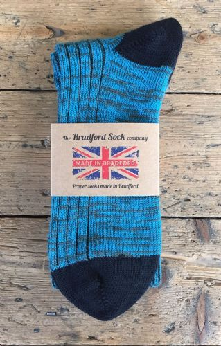 Wool Socks - Turquoise & Green - Size SMALL Only.